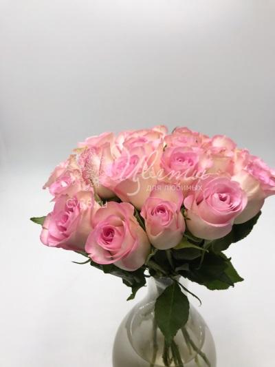 Большой букет цветов «Розовый шелк»