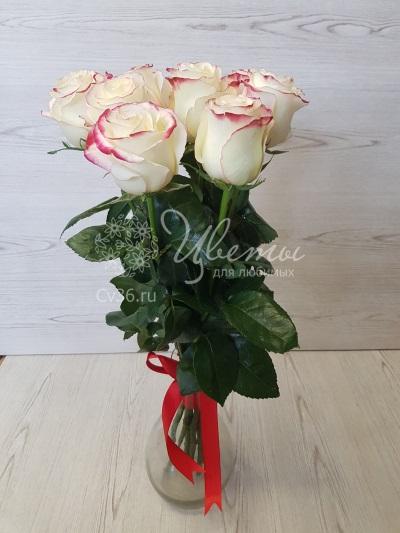 Нежный букет «Роза в вине»