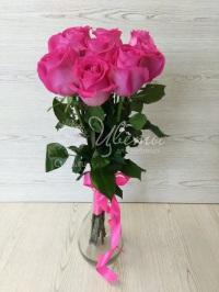 Букет из 9 розовых роз с доставкой по городу