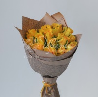 Букет из желтых роз «Солнечное настроение»