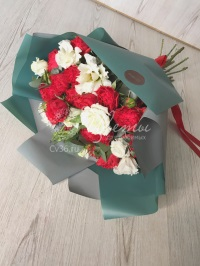 Цветы: «Яркая нежность» - Розы кустовые, эустома